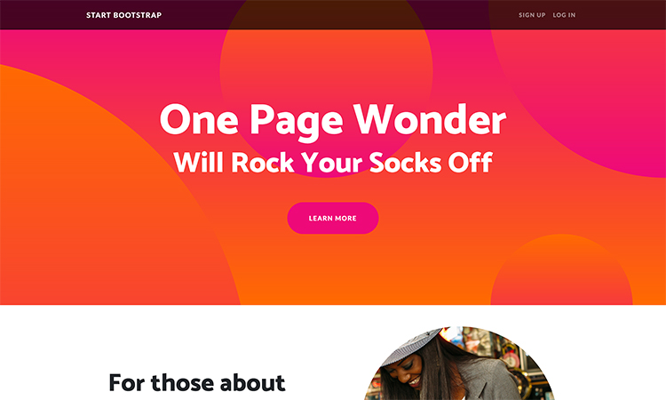 Free Bootstrap One Page Website Template
